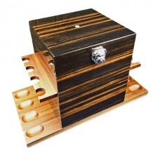 Кабинет для трубок Dunhill's White Spot Bulldog Pipe Caddy - Macassar